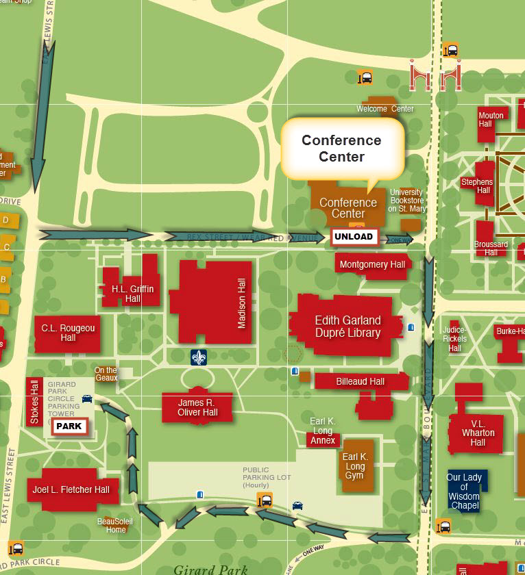 ul lafayette campus map Traffic Advisory For August 17 2016 University Police ul lafayette campus map